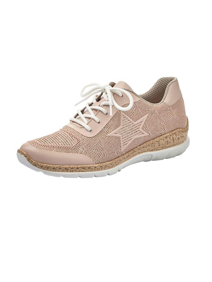 """Rieker Sneakers avec application """"étoile"""", Rose"""