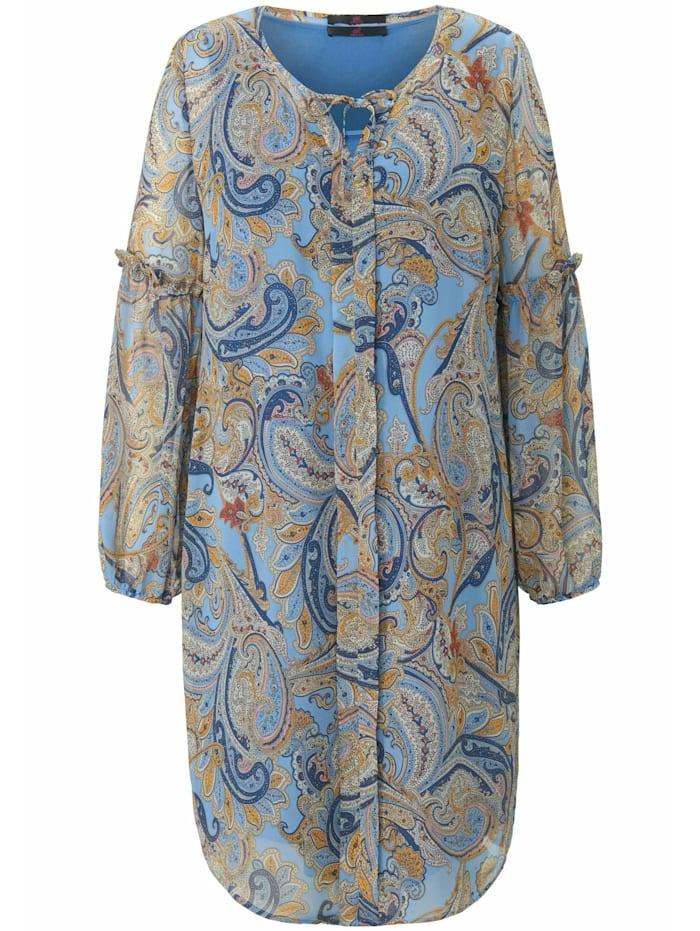 Emilia Lay Sommerkleid mit Allover-Print, blau/multicolor