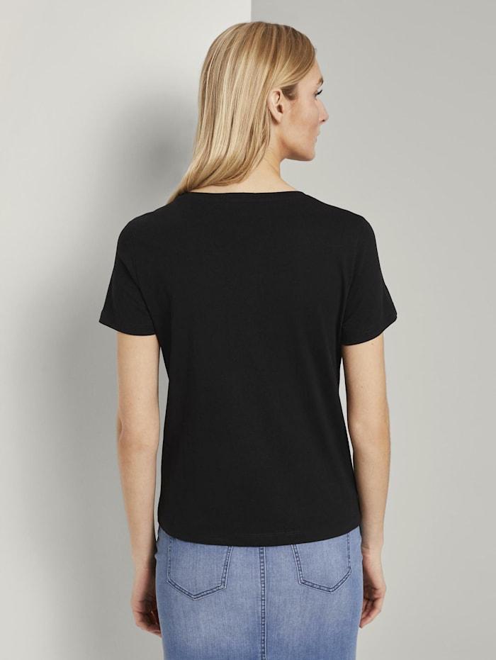 T-Shirt mit kleiner Affen-Applikation