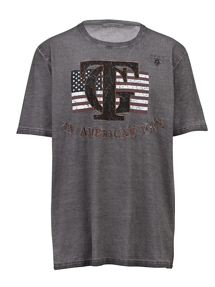 Top Gun T-shirt en pur coton, Gris