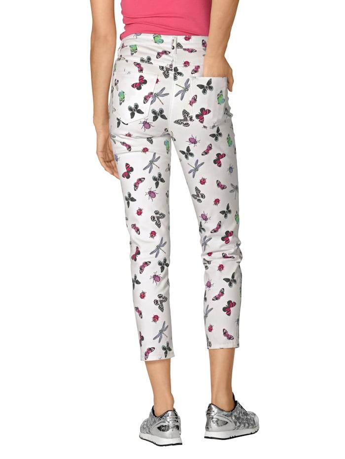 Jeans met vlinderdessin
