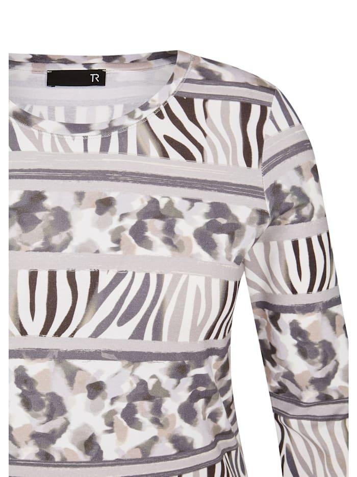 Shirt mit Animal-Print und 7/8-Ärmeln