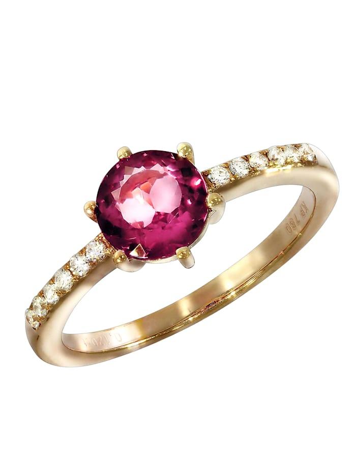 Creazione Bijoux Ring 750/- Gold Turmalin pink Turmalin Glänzend 1,02ct. 750/- Gold, rot