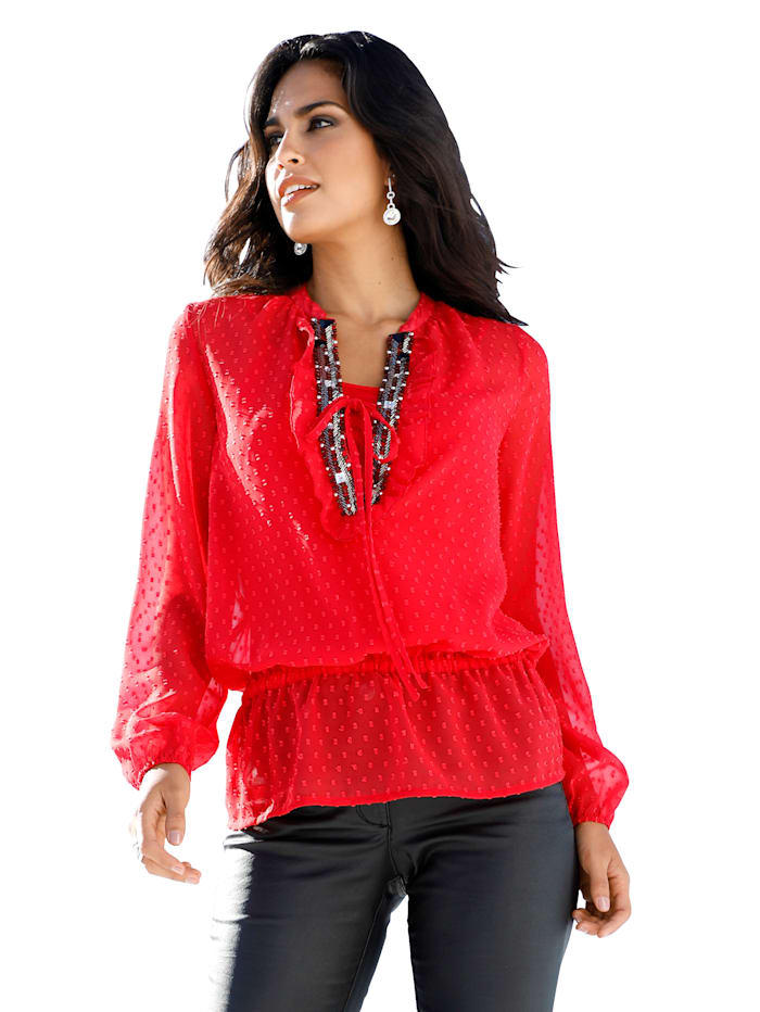 AMY VERMONT Bluse mit Top, Rot
