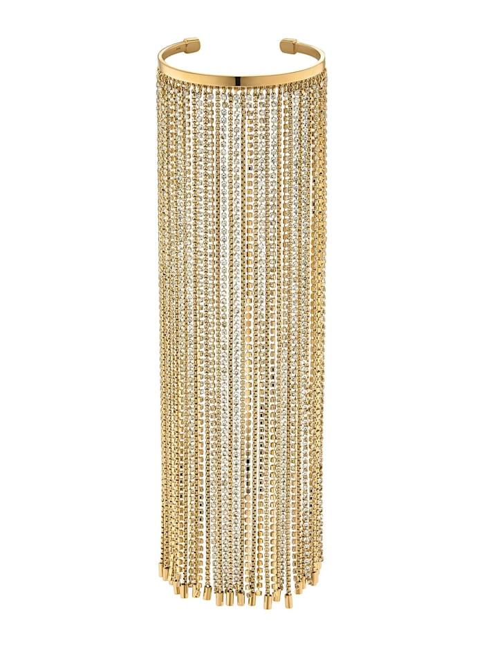Guido Maria Kretschmer Collec. GMK Runway Collection By CHRIST Damen-Armreif Messing Kristall, gold