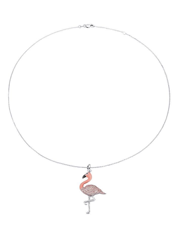 Flamingo-Anhänger mit Kette