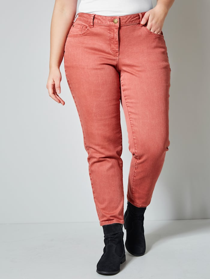 Janet & Joyce Jeans in 5-pocketmodel, Terracotta