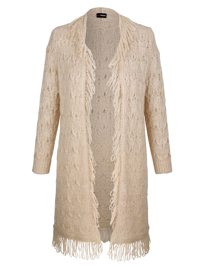 MIAMODA Vest in bohemian-design, Beige