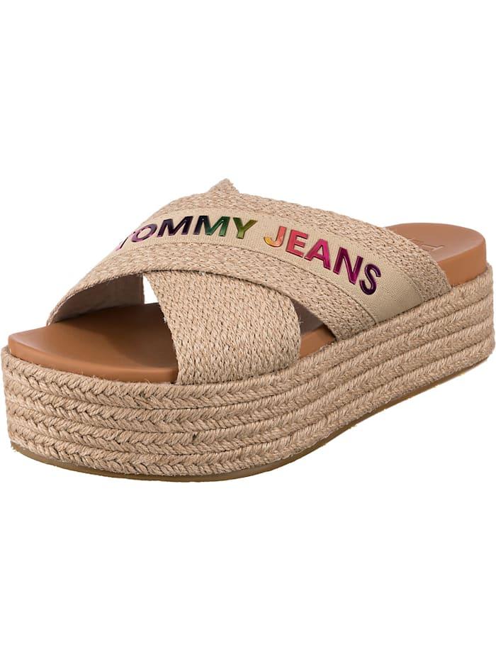 Tommy Jeans Komfort-Pantoletten, beige