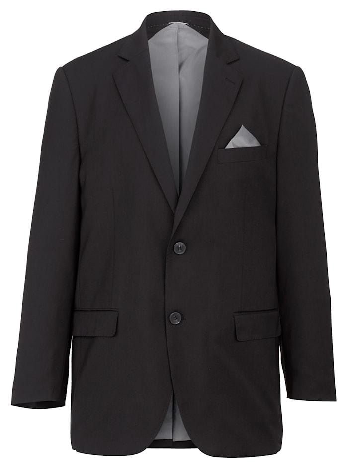 Men Plus Veste de costume avec col tailleur, Noir