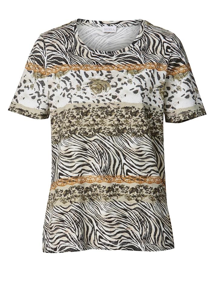 Shirt mit Tierfelldessin