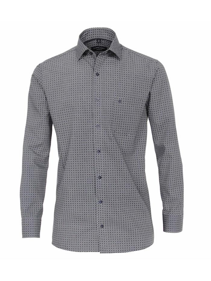 CASAMODA Hemd Print Comfort Fit, Blau