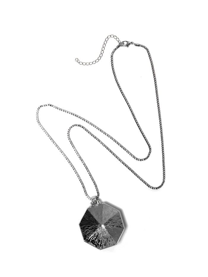 Collezione Alessandro Lange Kette Ramona mit geometrischem Anhänger, silber