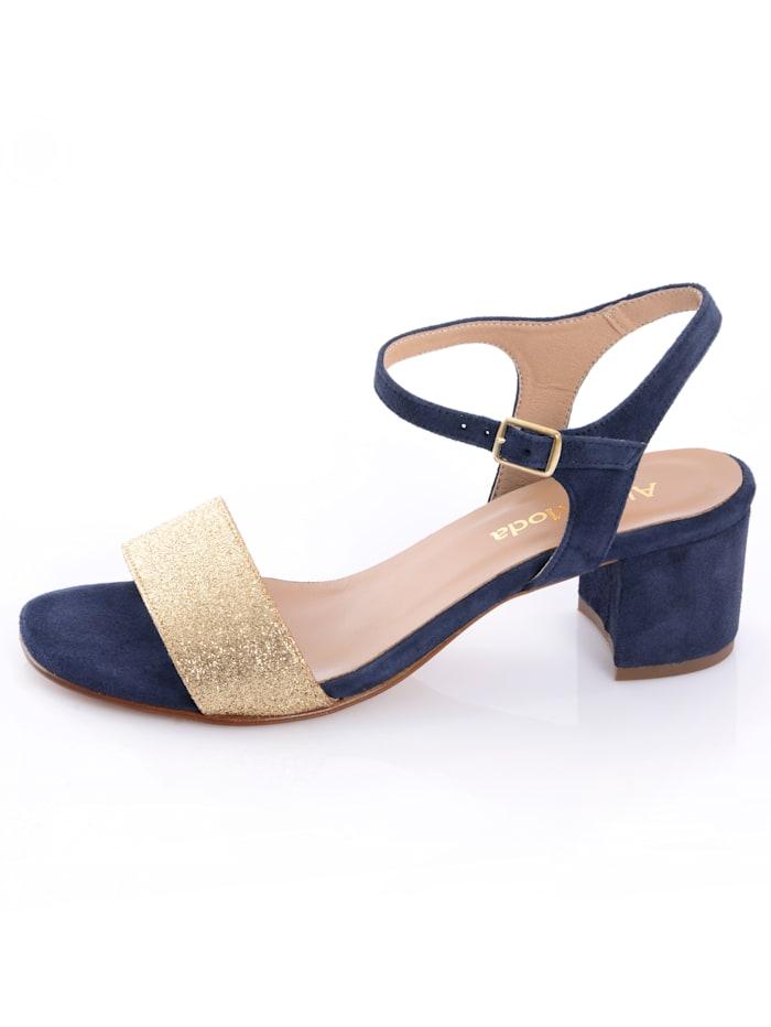 Sandaaltje met glitterriempje