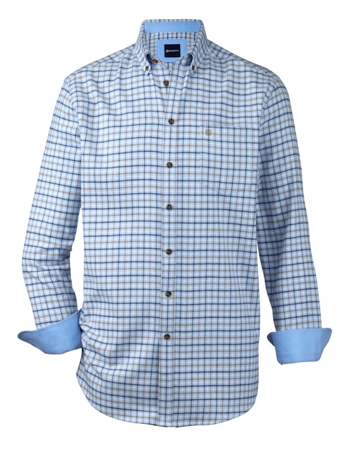 BABISTA Overhemd met zachte touch, Blauw/Bruin