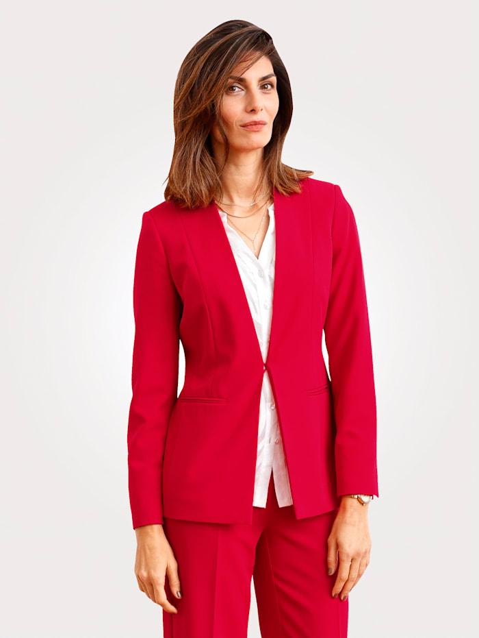 MONA Blazer van licht elastisch materiaal, Rood