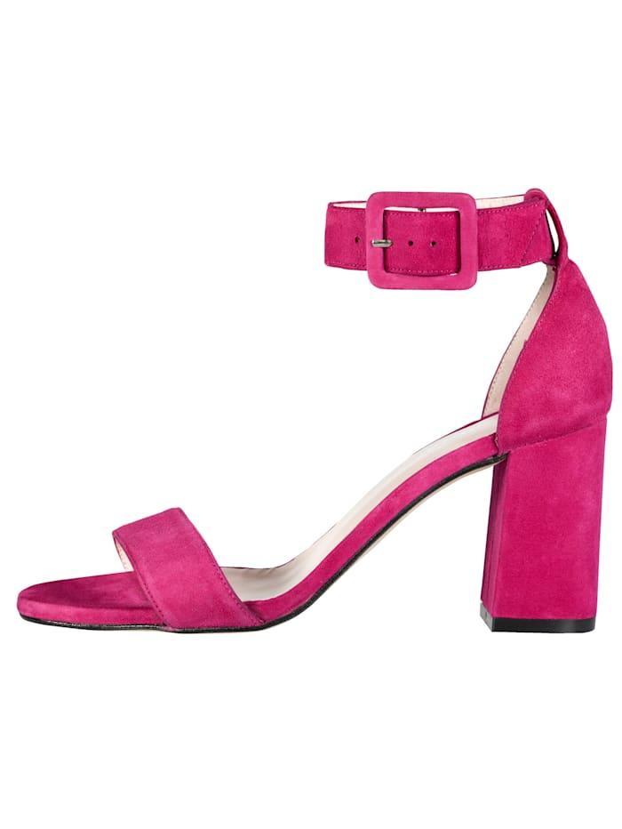 Sandales en cuir velours de chevreau haut de gamme