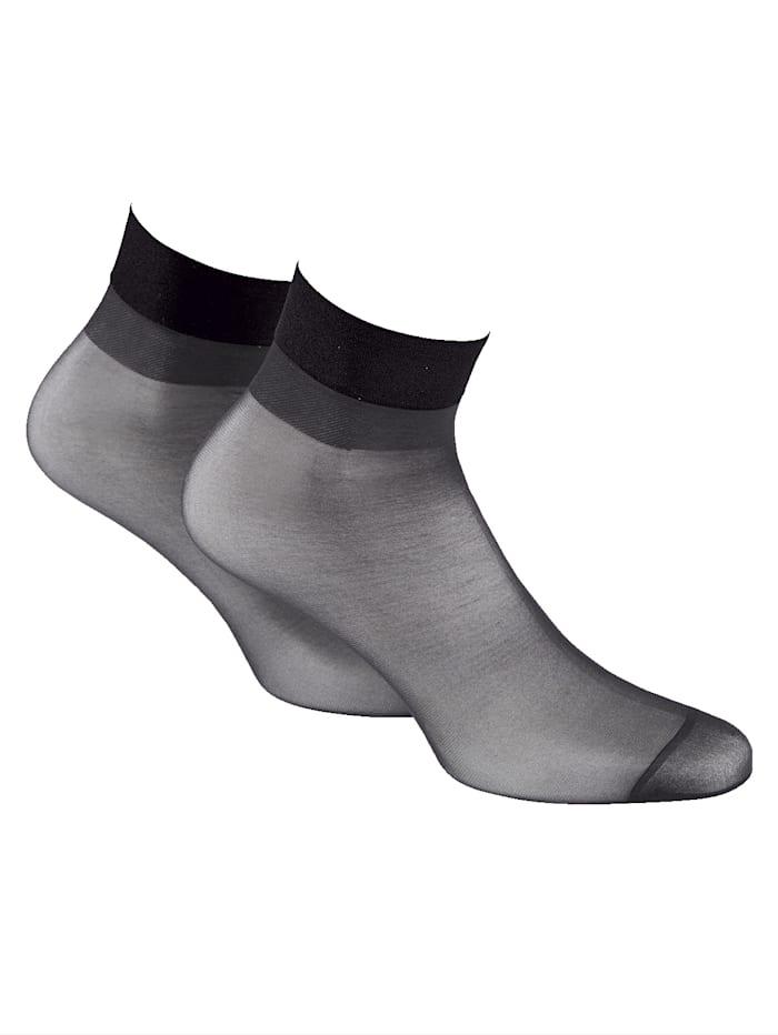 Disee Socquettes fines Bordure confortable douce, Noir