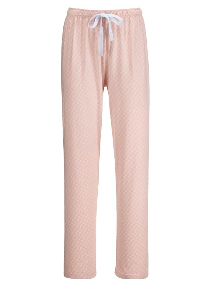 JOOP! Kalhoty vMix a Match prgrame, Růžová/Bílá