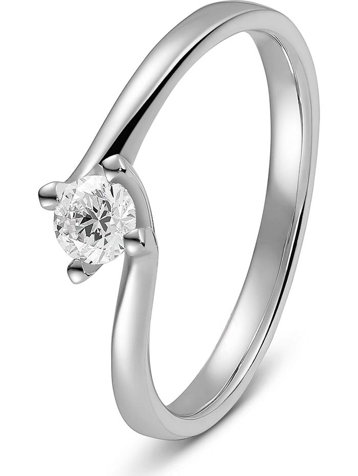 CHRIST C-Collection CHRIST Damen-Damenring 1 Diamant, weißgold