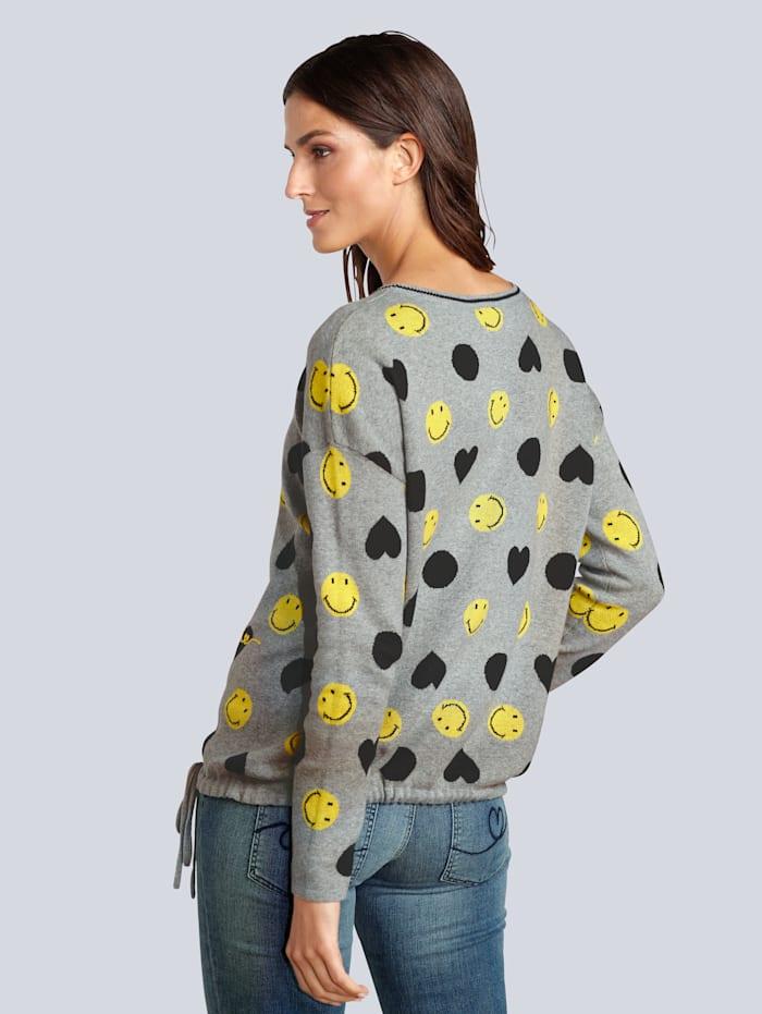 Pullover mit Smileys