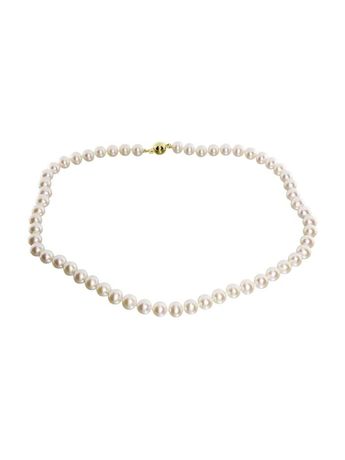 OSTSEE-SCHMUCK Kette - Ingrid 7 - Gold 585/000 - Zuchtperle, weiß