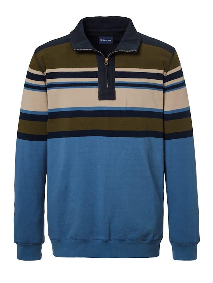 Sweatshirt van luchtig-licht piquémateriaal