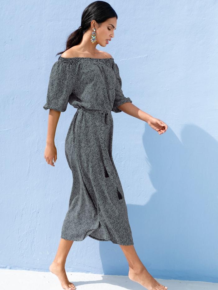 Kleid mit dekorativem Allover-Druck