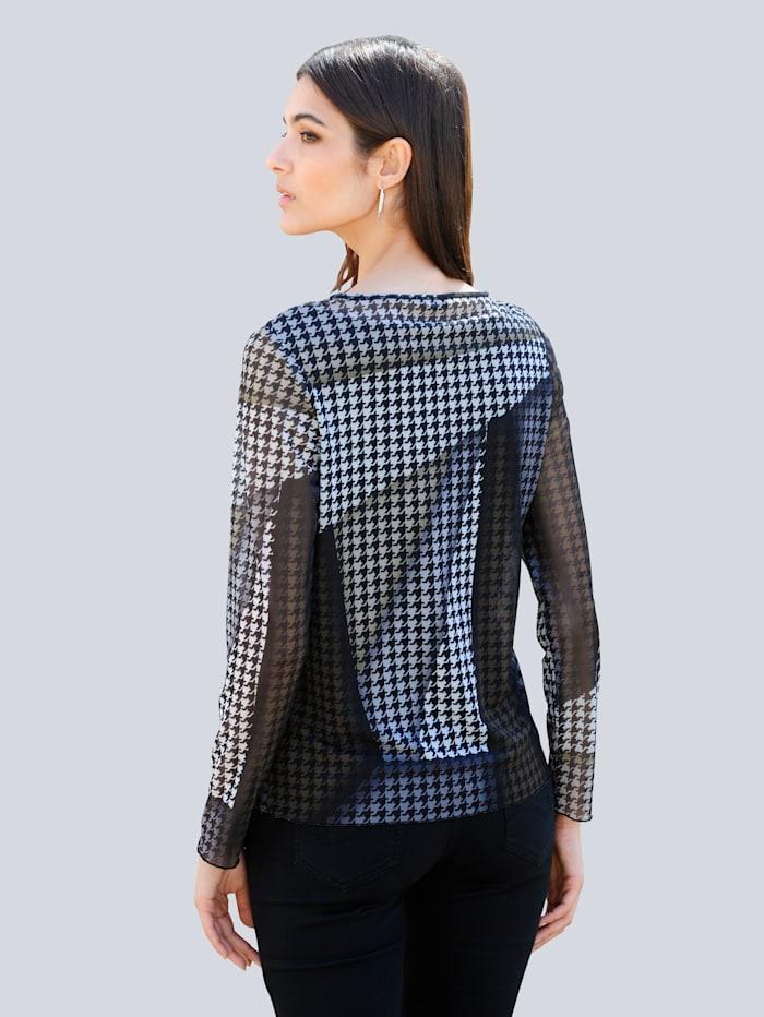 Shirt mit exklusivem Dessin von Alba Moda