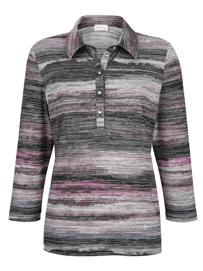 Polo shirt with a striped pattern