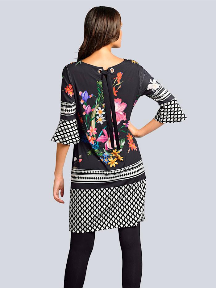 Kleid mit exklusivem Kombinationsdruck
