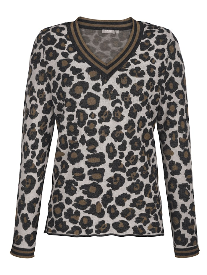 Jumper with animal print pattern