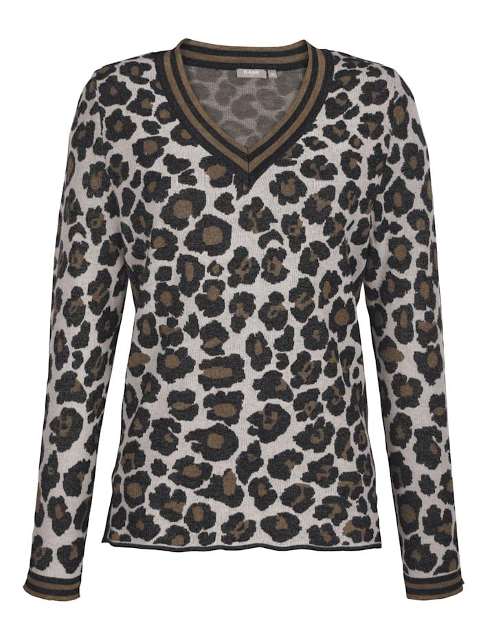 Leopardikuvioinen neulepusero
