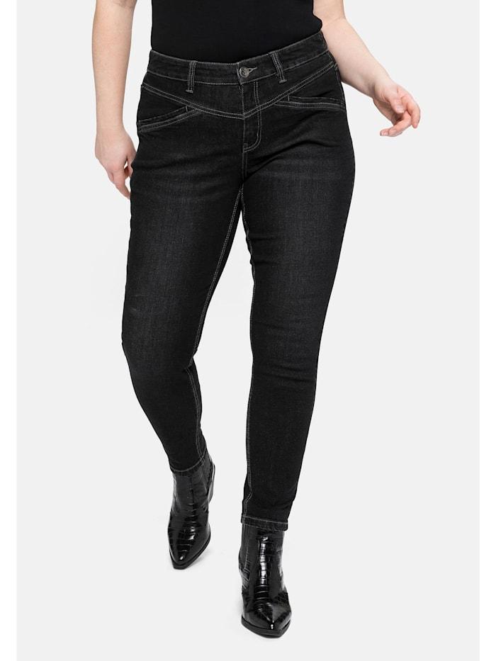 Sheego Jeans in extra-kurzer PETITE Größe, black Denim