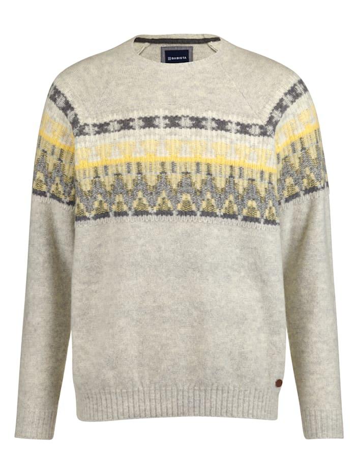 BABISTA Pullover im Norweger-Stil, Grau