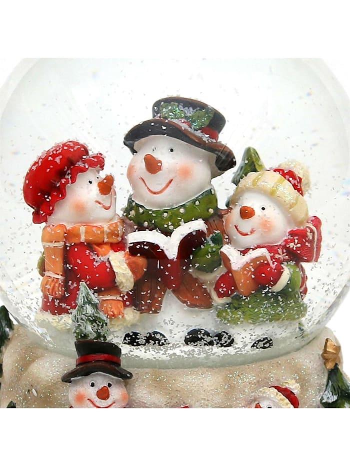 Sigro Schneekugel Schneemannfamilie, Bunt