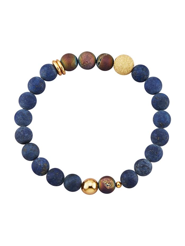 Bracelet de lapis-lazulis, Bleu