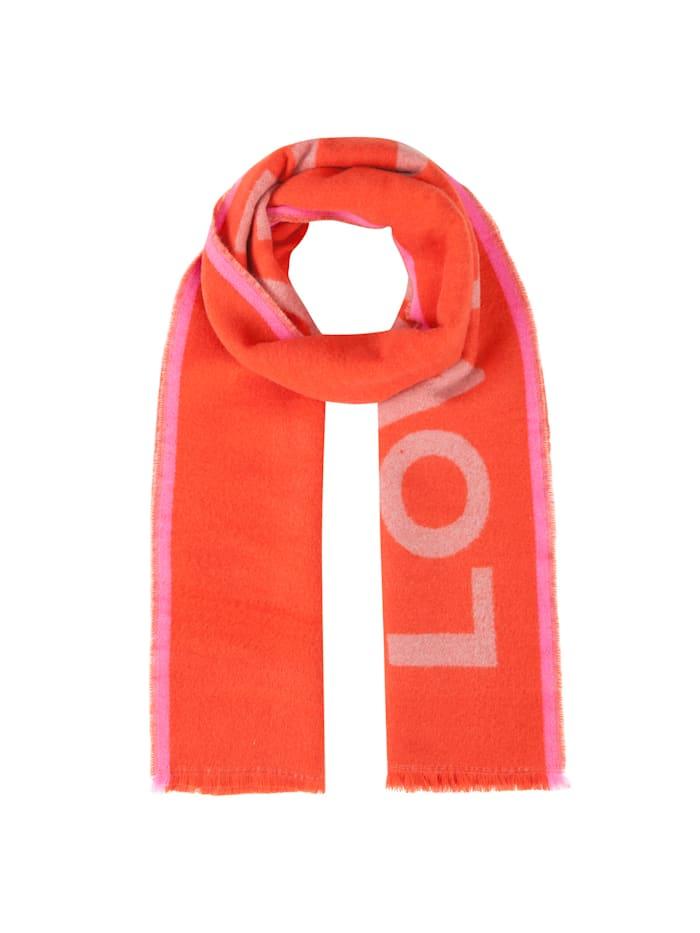 Codello Ultrasofter Oversized-Schal mit Statement-Print, red