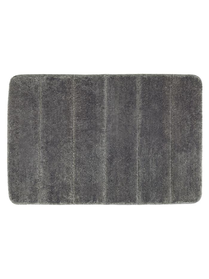Wenko Badteppich Steps Mouse Grey, 60 x 90 cm, Mikrofaser, Polyester/Mikrofaser: Grau