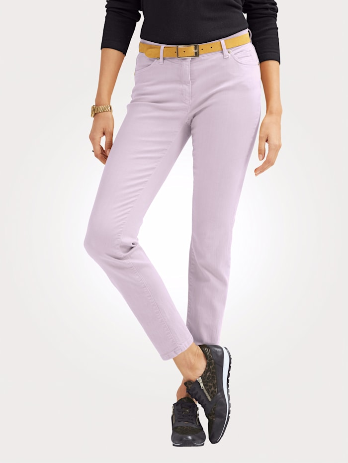 Toni Jeans made from coloured denim, Lavender