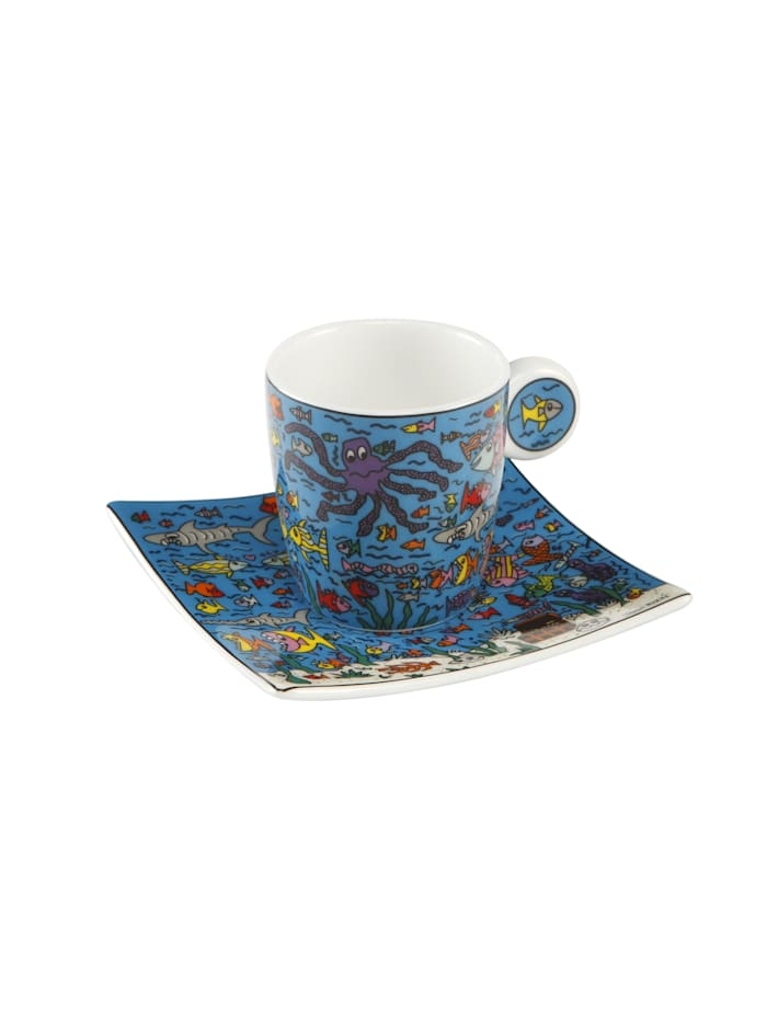 Goebel Goebel Espressotasse James Rizzi - Under the Deep Blue Sea, Rizzi - Deep Blue Sea