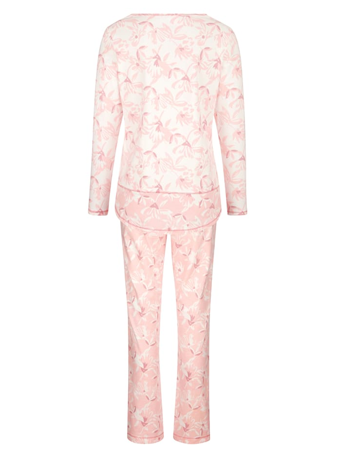 Pyjama's per 2 stuks met leuke contrasterende inzetten