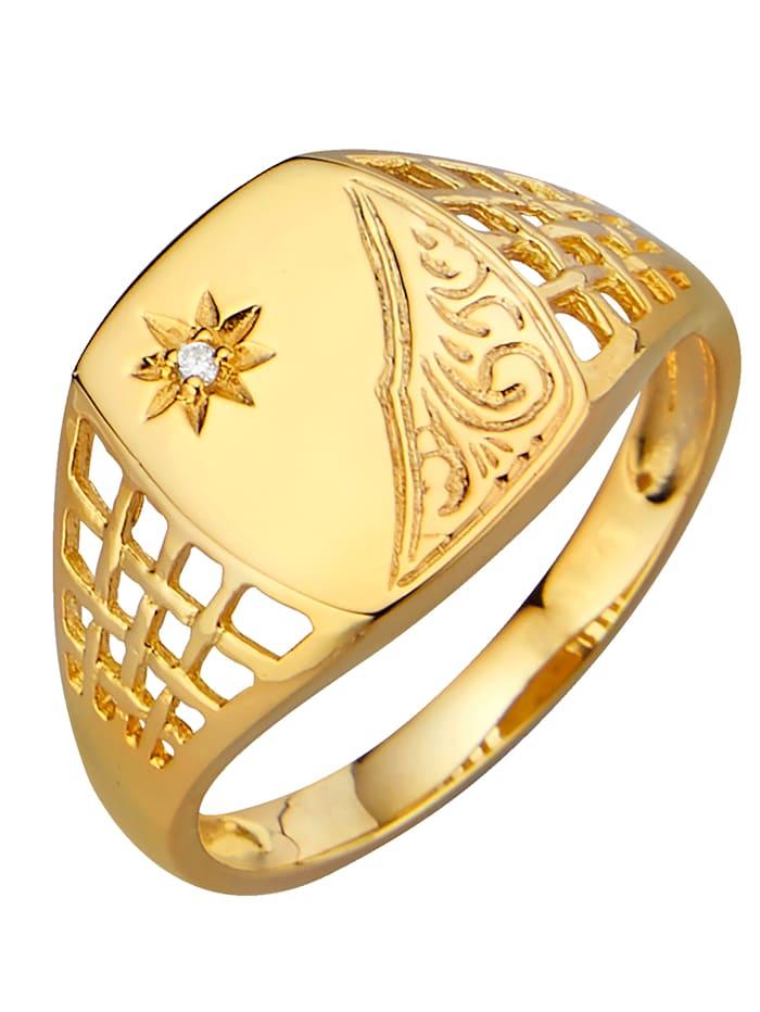 Herrenring in Silber 925, vergoldet