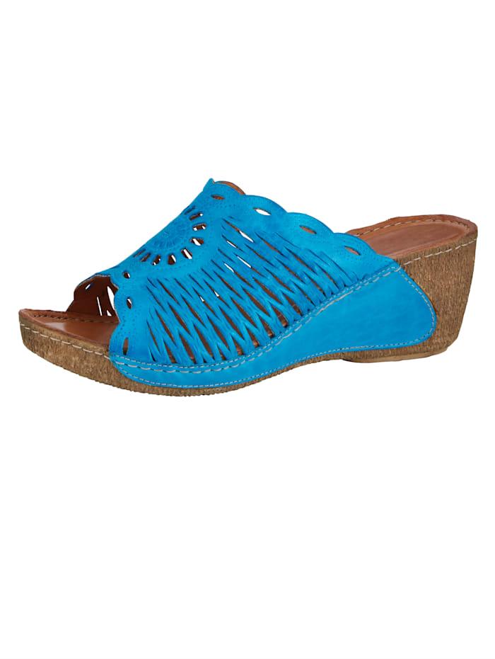Gemini Mules à perforations estivales, Bleu