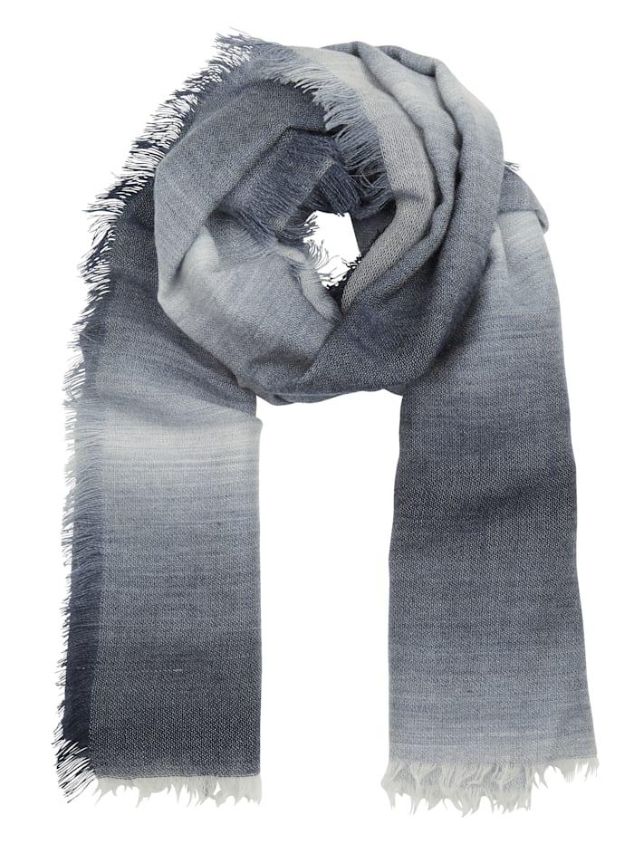 MONA Schal, Marineblau/Grau