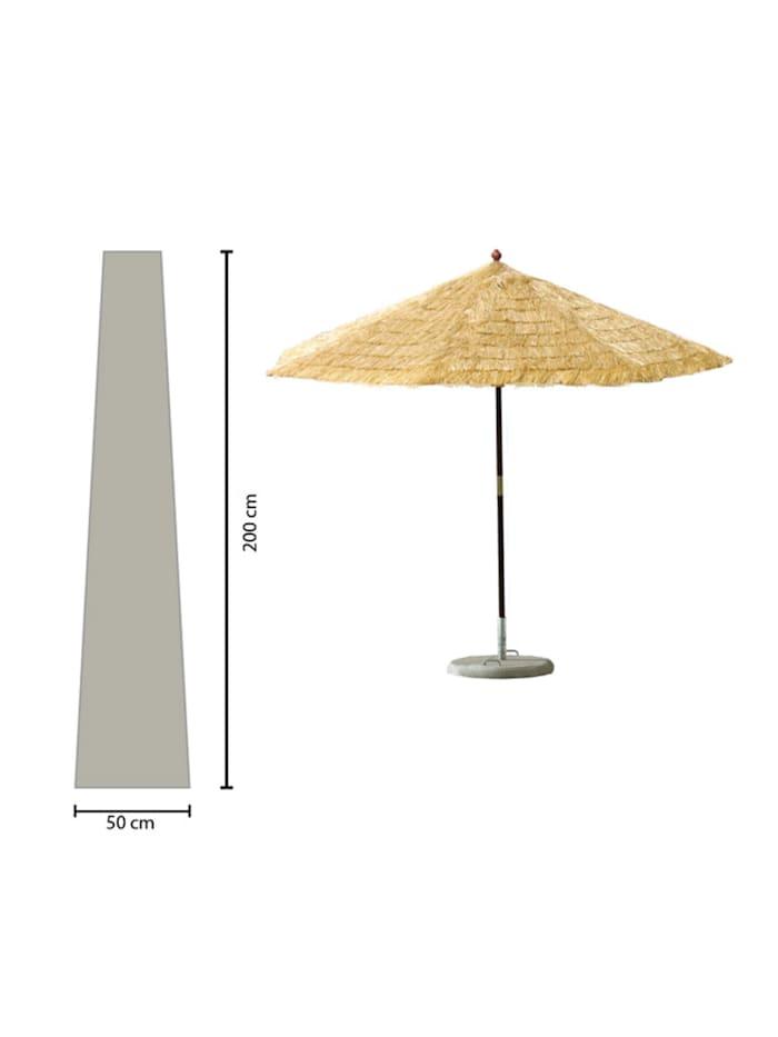Grasekamp Schirmhülle 200cm lang Sonnenschirm bis  Ø 350 cm Schutzhülle Schutzhaube  Abdeckplane Weiß, Weiß