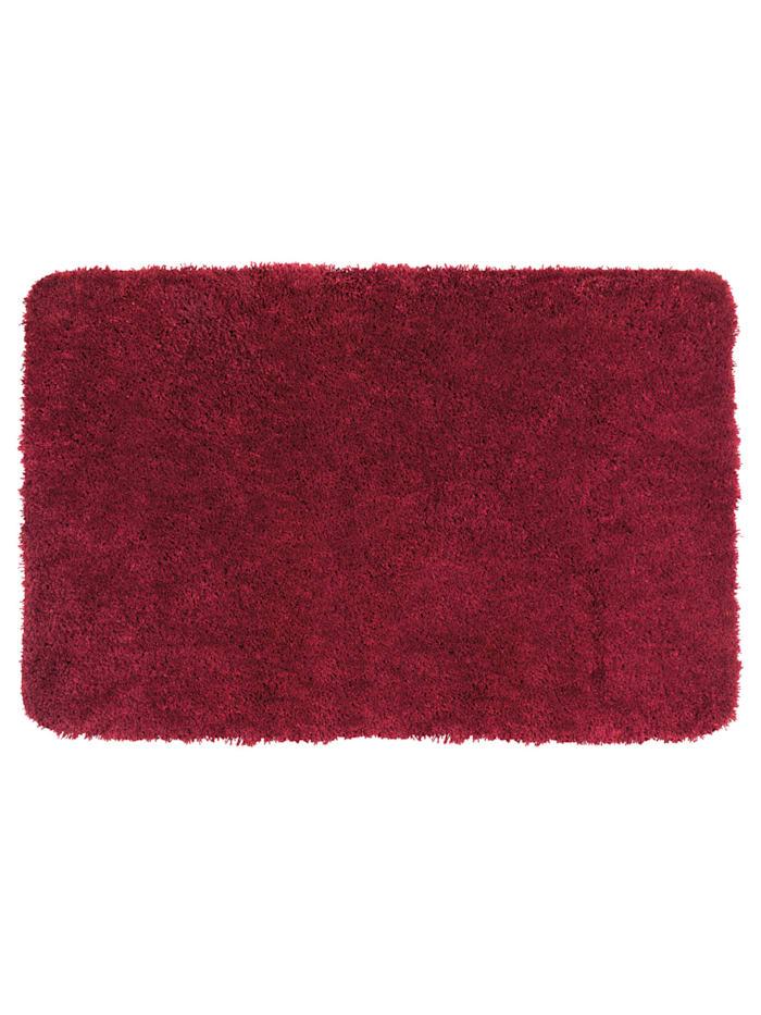 Wenko Badteppich Mélange Chili, 55 x 65 cm, 55 x 65 cm, Mikrofaser, Polyester/Mikrofaser: Rot