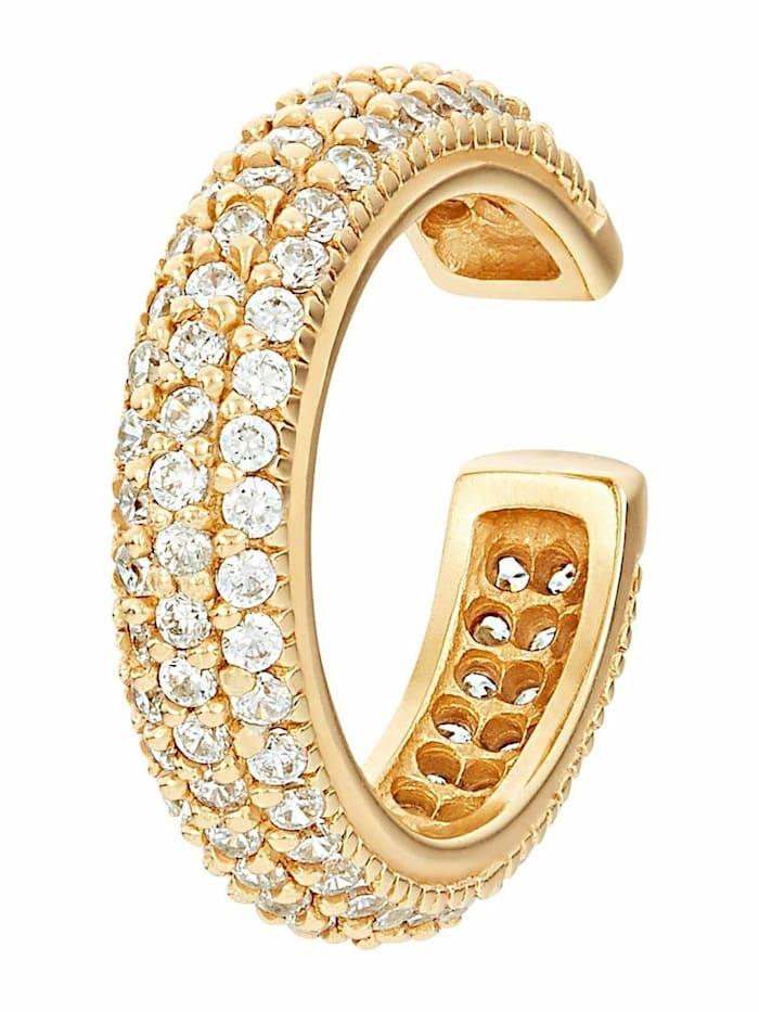 Noelani Earcuffs für Damen, Sterling Silber 925, Zirkonia, Gold