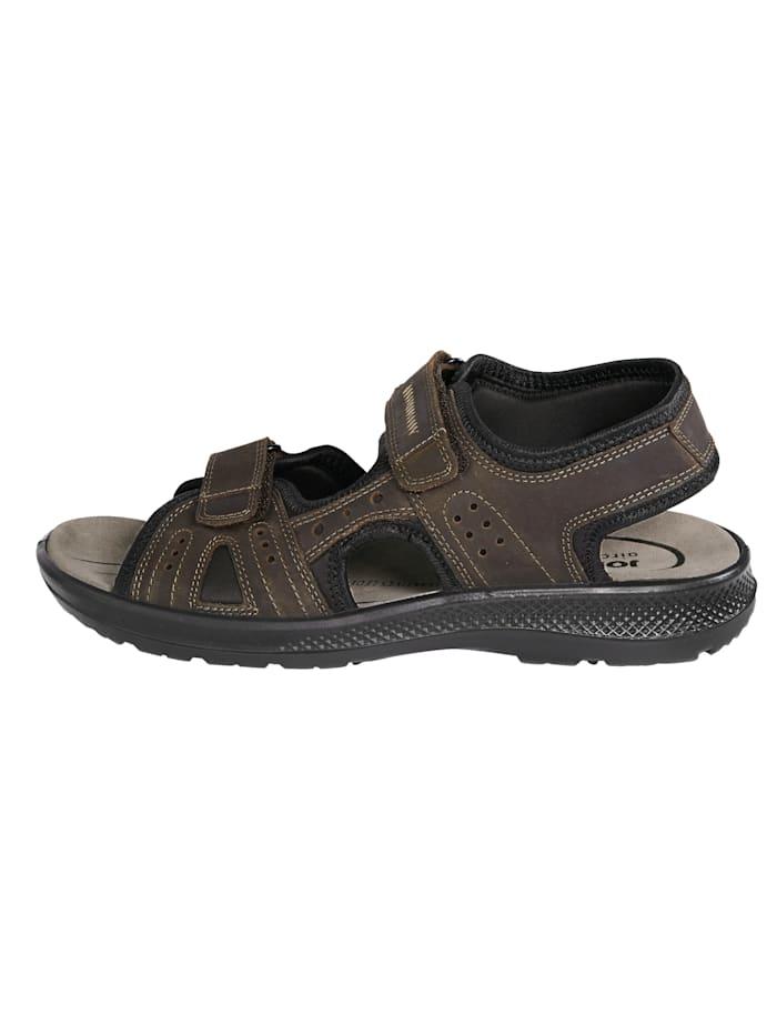 Sandaaltje met gepolsterd leren voetbed