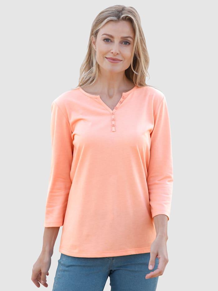 basically you Shirt Met sierknopen, Apricot
